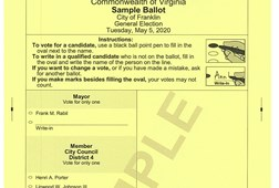 Sample Ballot, District 4