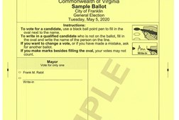 Sample Ballot, District 3, 5 & 6