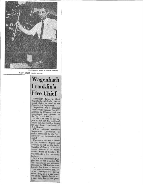Chief Wagenbach Article